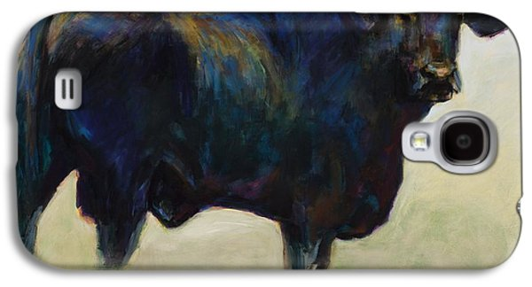 Steer Paintings Galaxy S4 Cases - Bull Galaxy S4 Case by Frances Marino