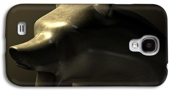 Commerce Galaxy S4 Cases - Bull Market Bronze Casting Contrast Galaxy S4 Case by Allan Swart