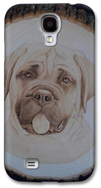 Dogs Pyrography Galaxy S4 Cases - Bull Mastiff Galaxy S4 Case by Oksana Rahbari