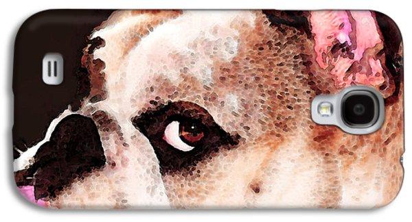Animal Lover Digital Art Galaxy S4 Cases - Bulldog Art - Lets Play Galaxy S4 Case by Sharon Cummings
