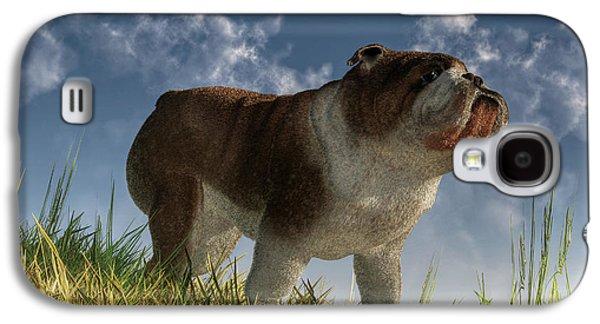 Bulldog Galaxy S4 Case by Daniel Eskridge