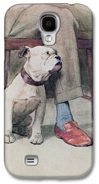 Bulldog Pen & Ink & Wash On Paper Galaxy S4 Case by Cecil Charles Windsor Aldin