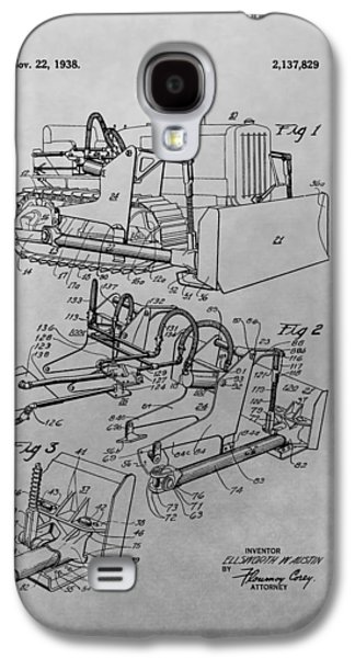 Machinery Drawings Galaxy S4 Cases - Bulldozer Patent Drawing Galaxy S4 Case by Dan Sproul