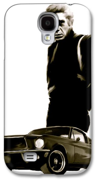 Bullet Galaxy S4 Cases - Bullet Cool  Steve McQueen Galaxy S4 Case by Iconic Images Art Gallery David Pucciarelli