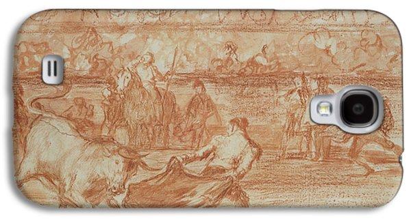 Blood Drawings Galaxy S4 Cases - Bullfighting Galaxy S4 Case by Goya