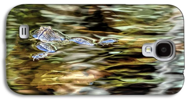 Waterscape Galaxy S4 Cases - Bullfrog in Colorful Pond Galaxy S4 Case by Francis Sullivan