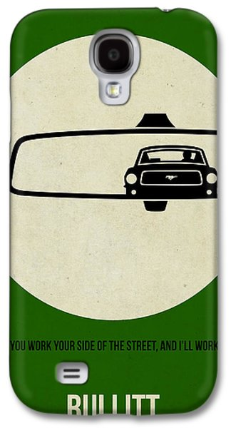Mustang Galaxy S4 Cases - Bullitt Poster Galaxy S4 Case by Naxart Studio