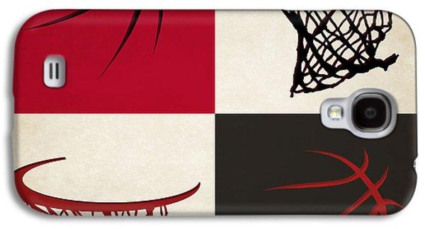 Chicago Bulls Galaxy S4 Cases - Bulls Ball And Hoop Galaxy S4 Case by Joe Hamilton
