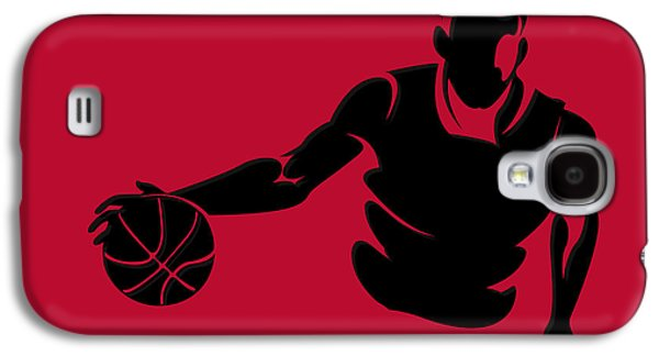 Chicago Bulls Galaxy S4 Cases - Bulls Shadow Player1 Galaxy S4 Case by Joe Hamilton