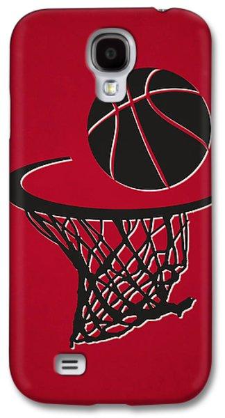 Chicago Bulls Galaxy S4 Cases - Bulls Team Hoop2 Galaxy S4 Case by Joe Hamilton