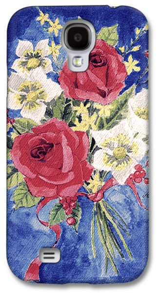 Ross Paintings Galaxy S4 Cases - Bunch Of Flowers Galaxy S4 Case by Alban Dizdari
