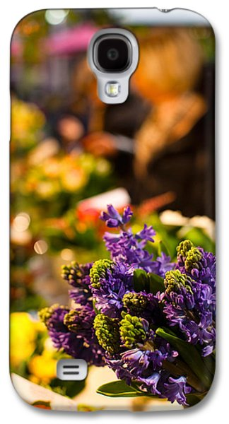 Sunlight On Flowers Galaxy S4 Cases - Bunch Of Flowers At A Flower Shop, Rue Galaxy S4 Case by Panoramic Images