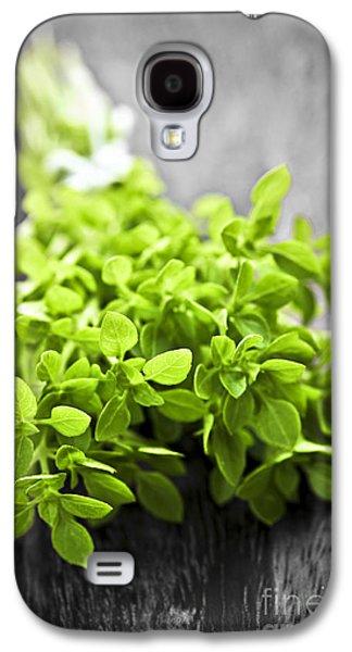 Fresh Green Galaxy S4 Cases - Bunch of fresh oregano Galaxy S4 Case by Elena Elisseeva