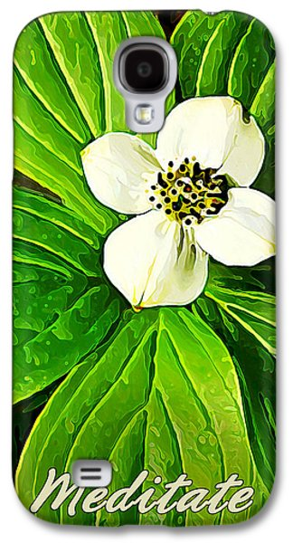 Photo Manipulation Galaxy S4 Cases - Bunchberry Blossom - Meditate Galaxy S4 Case by Bill Caldwell -        ABeautifulSky Photography