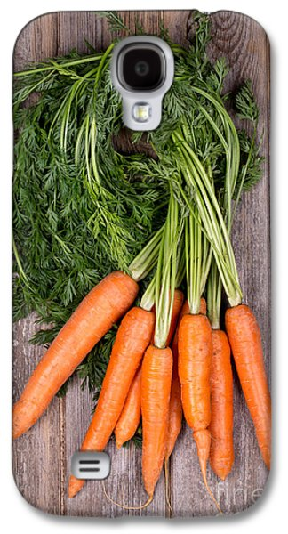 Rustic Galaxy S4 Cases - Bunched carrots Galaxy S4 Case by Jane Rix