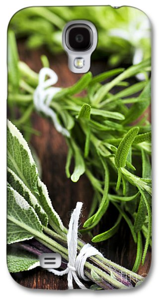 Ties Galaxy S4 Cases - Bunches of fresh herbs Galaxy S4 Case by Elena Elisseeva