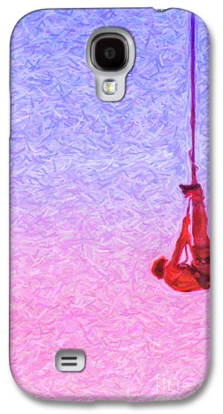 Sports Pastels Galaxy S4 Cases - Bungee Jumper Pastel Galaxy S4 Case by Antony McAulay