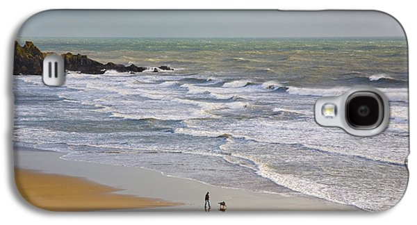 Sports Photographs Galaxy S4 Cases - Bunmahon Strand, The Copper Coast Galaxy S4 Case by Panoramic Images