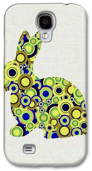 Girl Galaxy S4 Cases - Bunny - Animal Art Galaxy S4 Case by Anastasiya Malakhova