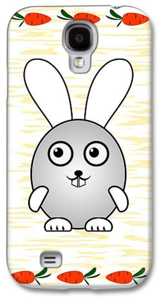 Cards Galaxy S4 Cases - Bunny - Animals - Art for Kids Galaxy S4 Case by Anastasiya Malakhova
