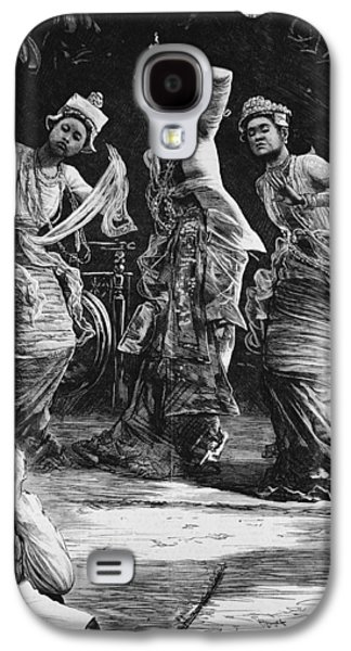 Traditional Galaxy S4 Cases - Burmese Ballet Girls As They Performed Before The Viceroy Of India At Rangoon, From The Illustrated Galaxy S4 Case by Henry Stephen Ludlow