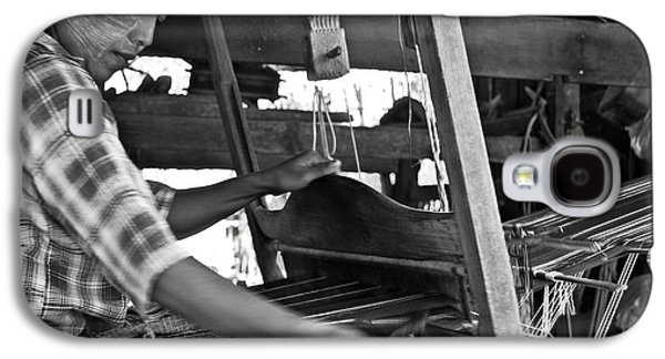Bamboo House Galaxy S4 Cases - Burmese woman working with a handloom weaving. Galaxy S4 Case by RicardMN Photography