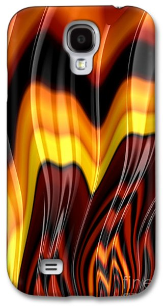 Flame Galaxy S4 Cases - Burning Galaxy S4 Case by John Edwards