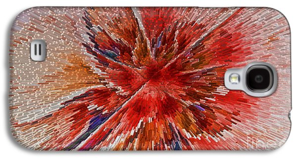 Surreal Geometric Galaxy S4 Cases - Burning Passion of Love Galaxy S4 Case by Deborah Benoit