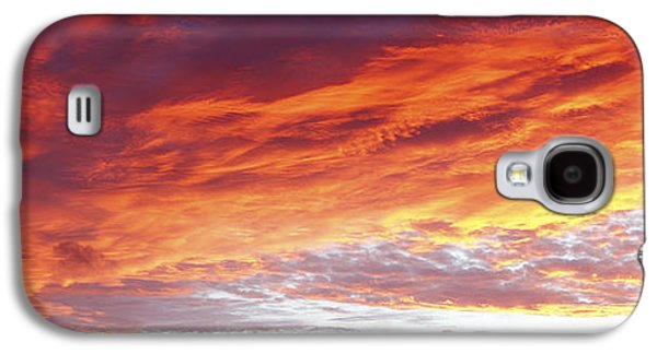 Abstract Nature Galaxy S4 Cases - Burning sky  Galaxy S4 Case by Les Cunliffe