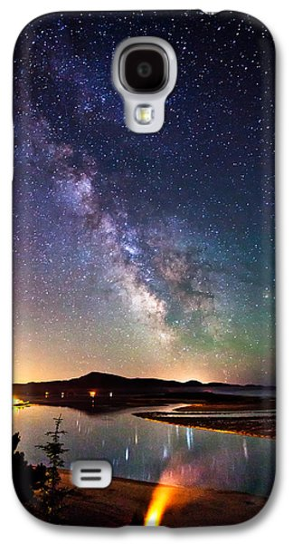 Landscape Metal Prints Galaxy S4 Cases - Burning the Milky Way Galaxy S4 Case by Darren  White