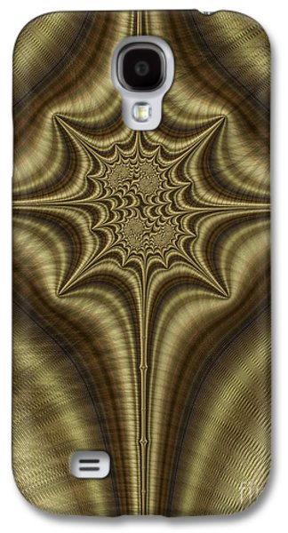 Bronze Galaxy S4 Cases - Burnished Bronze Abstract Galaxy S4 Case by John Edwards
