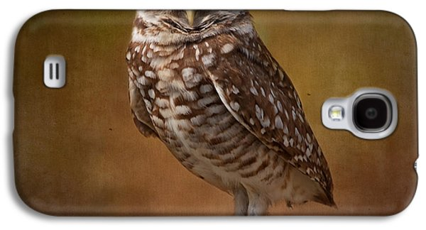 Kim Photographs Galaxy S4 Cases - Burrowing Owl Portrait Galaxy S4 Case by Kim Hojnacki