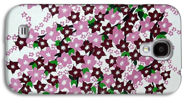 Catherine White Paintings Galaxy S4 Cases - Bursting into Bloom Galaxy S4 Case by Cathy Jacobs