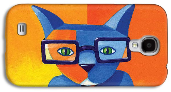 Business Cat Galaxy S4 Case by Mike Lawrence