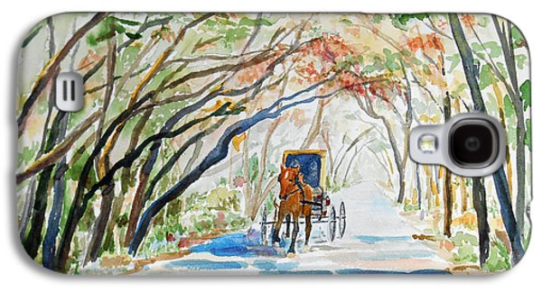 Horse And Buggy Paintings Galaxy S4 Cases - Florida - Business Trip Galaxy S4 Case by Christine Lathrop