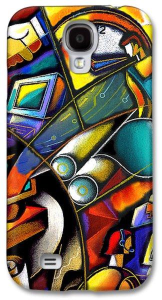 Transfer Galaxy S4 Cases - Business world Galaxy S4 Case by Leon Zernitsky