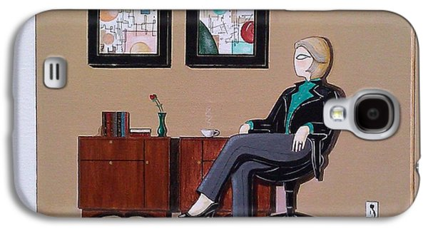Businesswoman Sitting In Chair Galaxy S4 Case by John Lyes