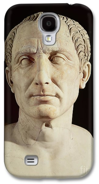 Black Sculptures Galaxy S4 Cases - Bust of Julius Caesar Galaxy S4 Case by Anonymous