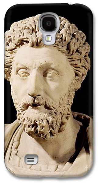 Black Sculptures Galaxy S4 Cases - Bust of Marcus Aurelius Galaxy S4 Case by Anonymous