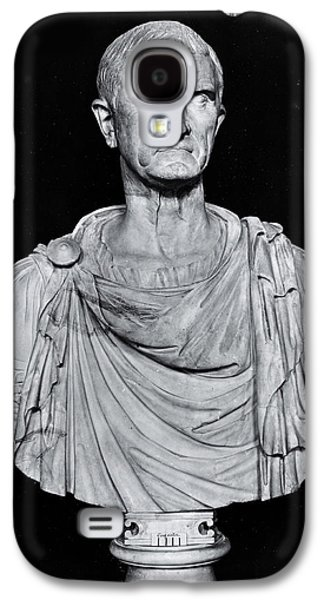 Statue Portrait Galaxy S4 Cases - Bust Of Marcus Licinius Crassus C.115-53 Bc Stone Bw Photo Galaxy S4 Case by Roman