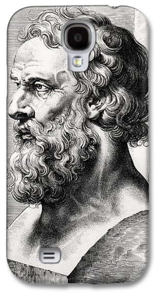 Greek Sculpture Galaxy S4 Cases - Bust of Plato  Galaxy S4 Case by Lucas Emil Vorsterman