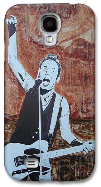 Bruce Springsteen Paintings Galaxy S4 Cases - Bust This City In Half Galaxy S4 Case by Stuart Engel