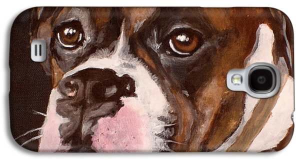 Dog Close-up Paintings Galaxy S4 Cases - Buster Galaxy S4 Case by Carol Russell