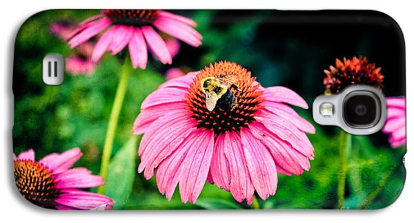 Original Art Photographs Galaxy S4 Cases - Busy Bee Galaxy S4 Case by Colleen Kammerer