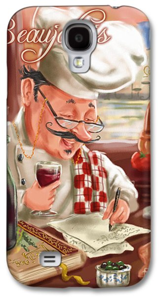 People Mixed Media Galaxy S4 Cases - Busy Chef with Beaujolais Galaxy S4 Case by Shari Warren