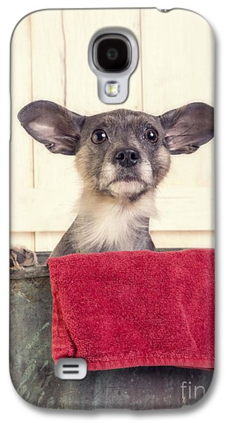 Cute Puppy Galaxy S4 Cases - But I dont want a bath Galaxy S4 Case by Edward Fielding