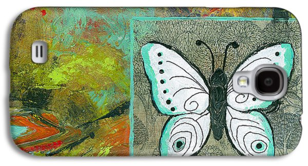 Abstract Expressionist Galaxy S4 Cases - Butterflies Are Free Galaxy S4 Case by Blenda Studio