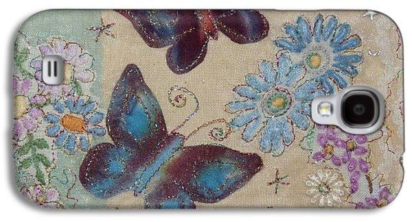 Fauna Tapestries - Textiles Galaxy S4 Cases - Butterflies Galaxy S4 Case by Hazel Millington