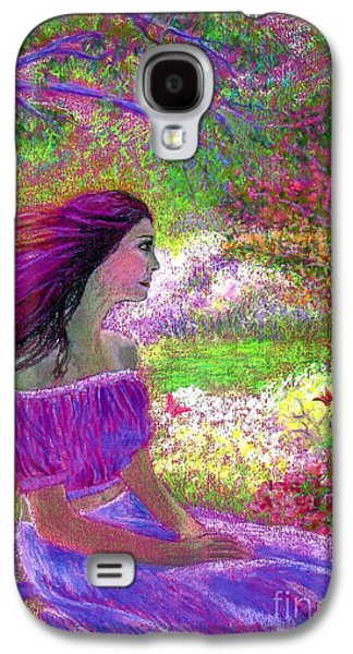 Purple Paintings Galaxy S4 Cases - Butterfly Breezes Galaxy S4 Case by Jane Small