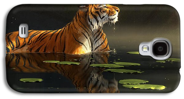 Wildlife Digital Art Galaxy S4 Cases - Butterfly Contemplation Galaxy S4 Case by Aaron Blaise
